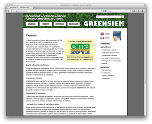 Screenshot sito www.greensiem.com